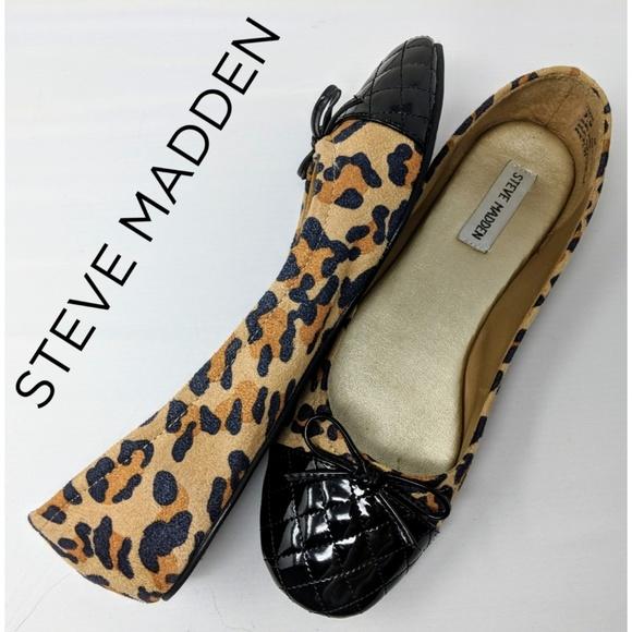 72be7672ecf ❤ ❤️Steve Madden Tippie Leopard Ballet Flats